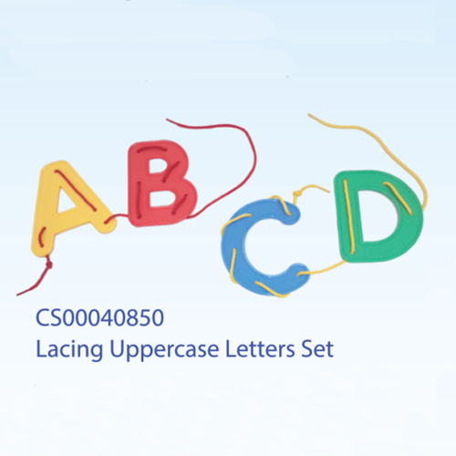 Lacing Uppercase Letters Set