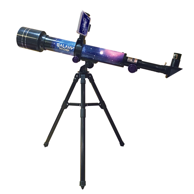 GALAXY TRACKER- 30/60 POWER 50MM ASTRONOMICAL TERRESTRIAL TELESCOPE WITH AL. TRIPOD
