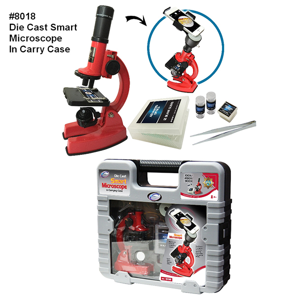 Die Cast Smart Microscope In Carrying Case
