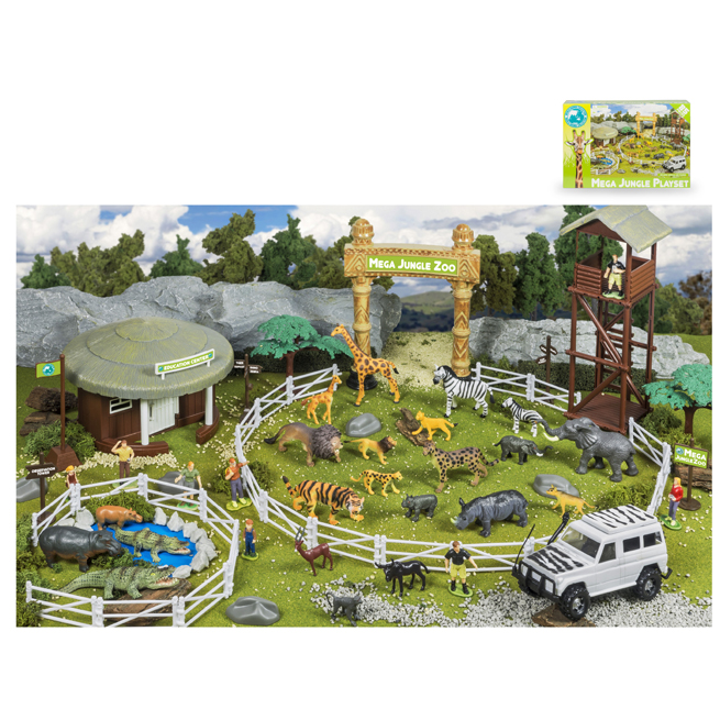 85 PCS MEGA JUNGLE PLAYSET