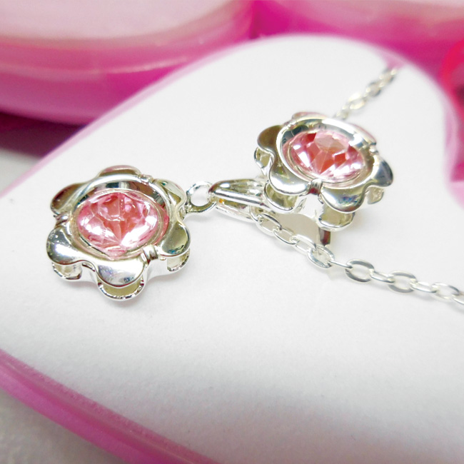 Necklace and Ring Jewelry set in heart shape box