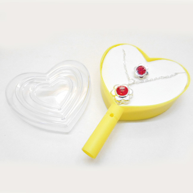 Necklace and Ring Jewelry set in heart shape lollipop box