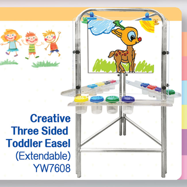 Three Sided Toddler Easel
